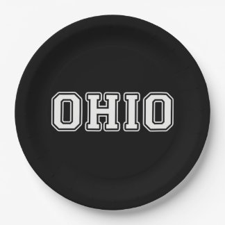 Ohio Paper Plate