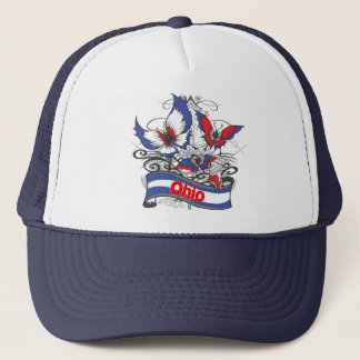 Ohio Patriotism Butterfly Trucker Hat