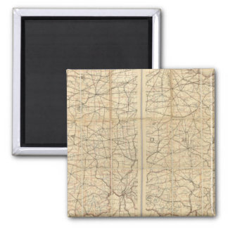 Ohio Postal Route Fridge Magnet