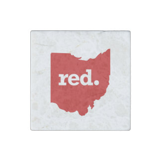 OHIO RED STATE STONE MAGNET