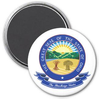Ohio Seal 7.5 Cm Round Magnet