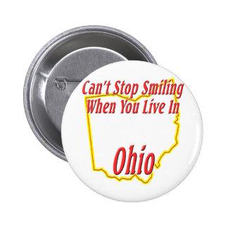 Ohio - Smiling 6 Cm Round Badge