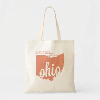 ohio | song lyrics | peach tote bag