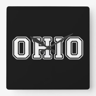 Ohio Square Wall Clock