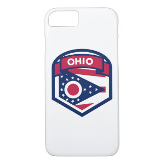 Ohio State Flag Crest Shaped iPhone 8/7 Case