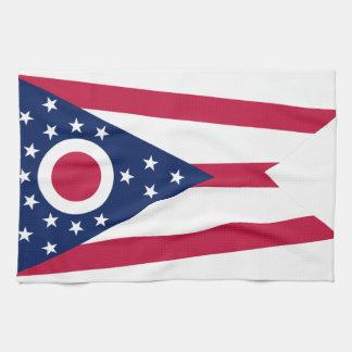 Ohio State Flag Tea Towel