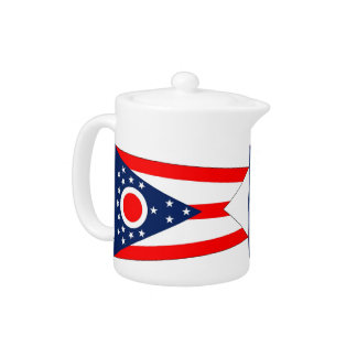 Ohio State Flag Teapot