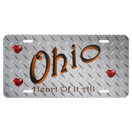 Ohio State License Plate License Plate