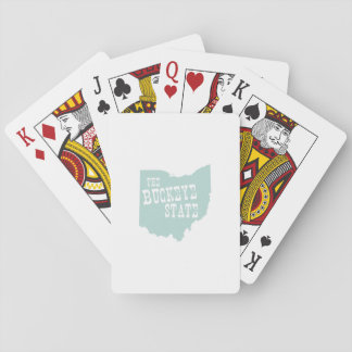 Ohio State Motto Slogan Playing Cards