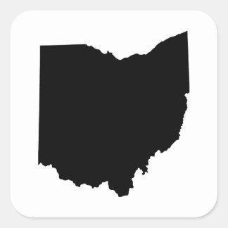 Ohio State Outline Square Sticker