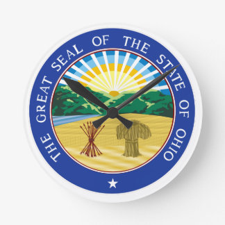 Ohio State Seal Round Clock
