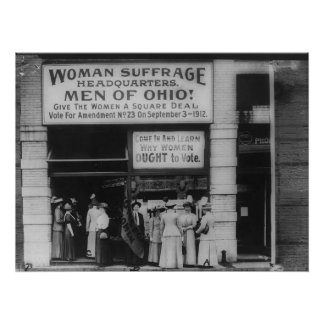 Ohio Suffrage Headquarters in Cleveland Poster