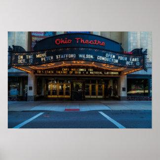 Ohio Theatre Marquee Poster