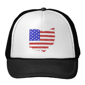 Ohio USA flag silhouette state map Cap