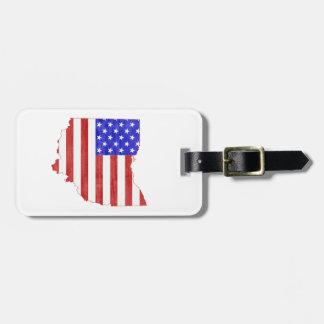 Ohio USA flag silhouette state map Luggage Tag