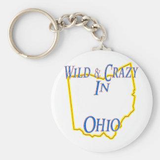 Ohio - Wild and Crazy Basic Round Button Key Ring