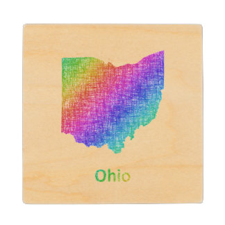 Ohio Wood Coaster