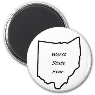 Ohio Worst State Ever 6 Cm Round Magnet