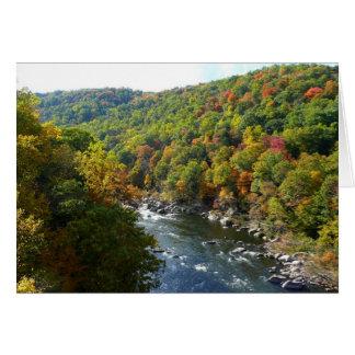 Ohiopyle River in Fall II Pennsylvania Autumn Card