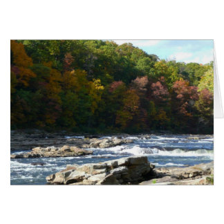 Ohiopyle River Rapids in Fall Greeting Card