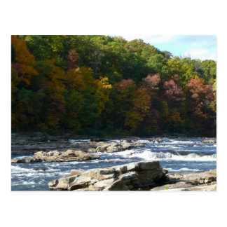 Ohiopyle River Rapids in Fall Postcard