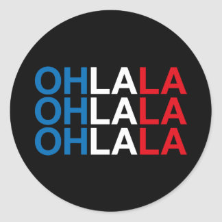 OHLALA CLASSIC ROUND STICKER