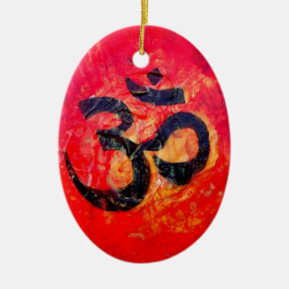 Ohm Ceramic Oval Decoration