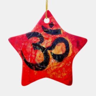 Ohm Ceramic Star Decoration