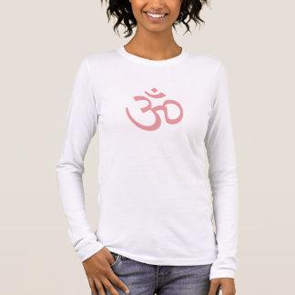 OHM, OM Namaste Yoga, Petal Pink Long Sleeve T-Shirt