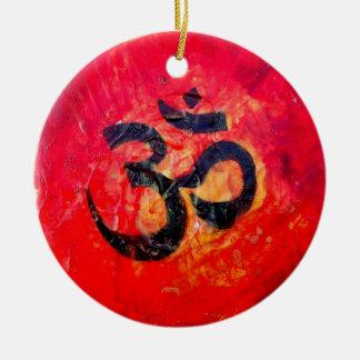 Ohm Round Ceramic Decoration