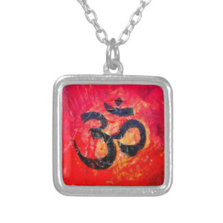 Ohm Silver Plated Necklace
