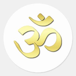 Ohm Symbol Classic Round Sticker