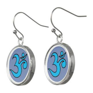 ohm symbol earrings