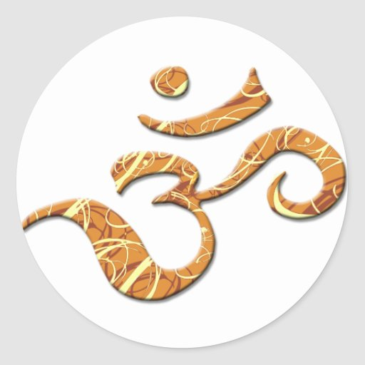 Ohm Symbol in Bronze (Sticker)