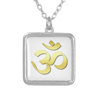 Ohm Symbol Silver Plated Necklace