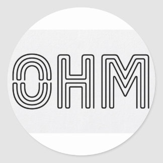 Ohm !!! Vapers know... Classic Round Sticker
