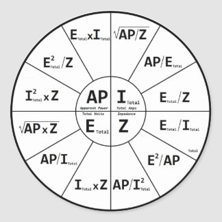 Ohms Law for AC Stickers