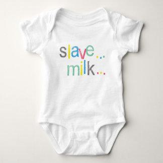 Oi! Slave Milk Now!! Funny Baby Bodysuit