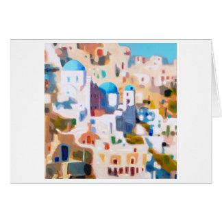Oia Santorini Card