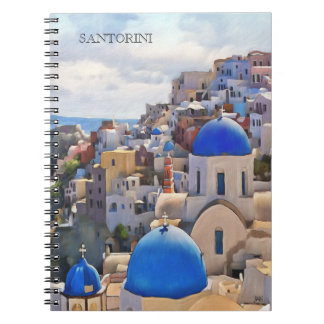 Oia, Santorini. Greece.Oil Painting. Gift Notebook
