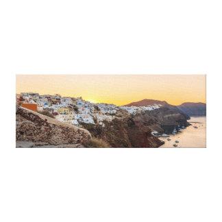 Oia, Santorini Sunrise Canvas Print