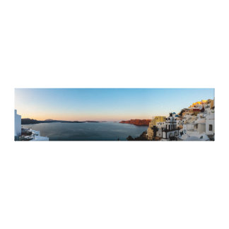 Oia, Santorini Sunrise Panorama Canvas Print