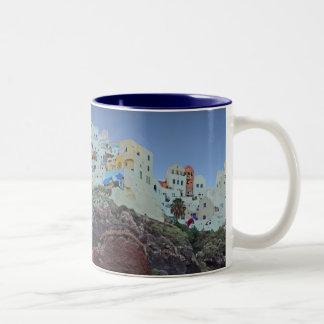 Oia ,Santorini Two-Tone Coffee Mug