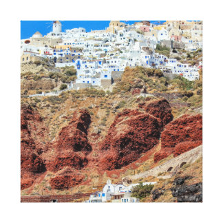 Oia village on Santorini island, north, Greece Canvas Print