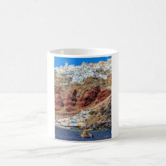 Oia village on Santorini island, north, Greece Coffee Mug