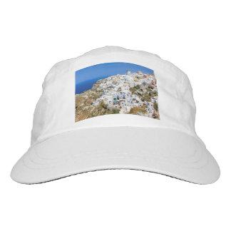 Oia village on Santorini island, north, Greece Hat
