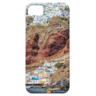 Oia village on Santorini island, north, Greece iPhone 5 Cover