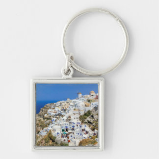Oia village on Santorini island, north, Greece Key Ring