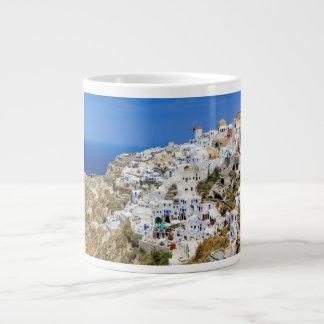 Oia village on Santorini island, north, Greece Large Coffee Mug