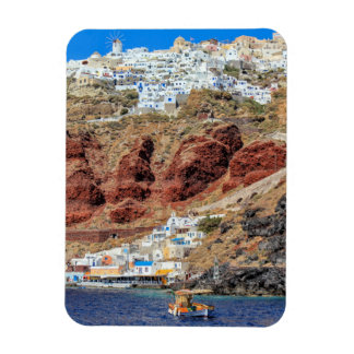 Oia village on Santorini island, north, Greece Magnet